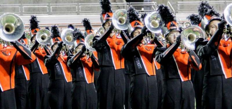 Study documents trends in marching band members' workload strain