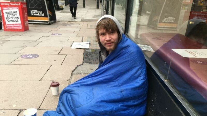Rough sleepers share lonely reality of homelessness on deserted London streets